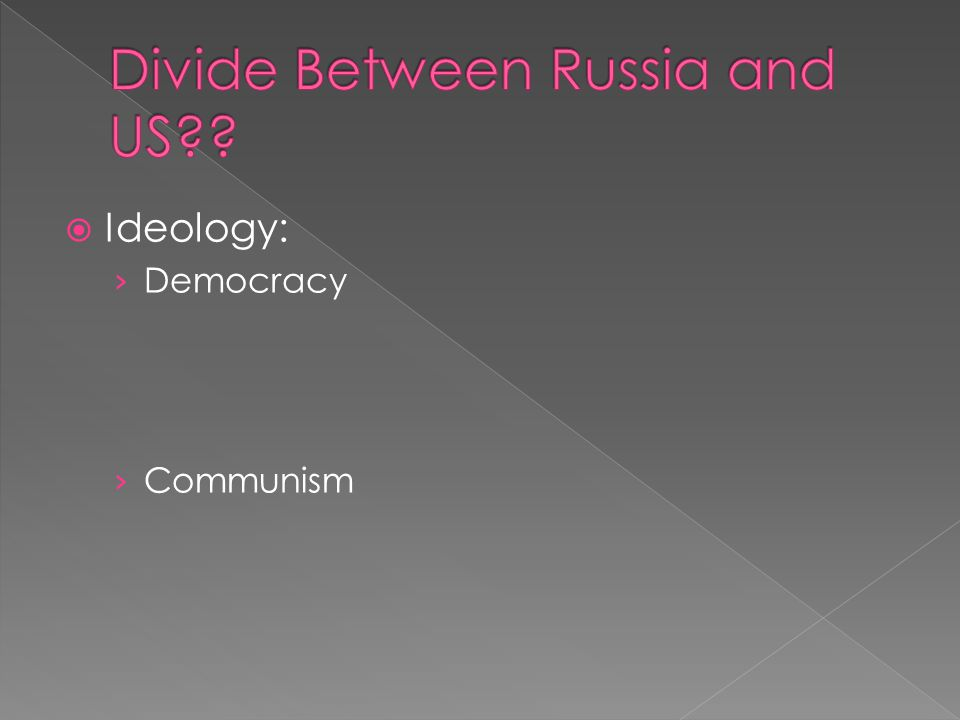  Democracy V. Communism › Similarities? › Differences?  Filling out as a class