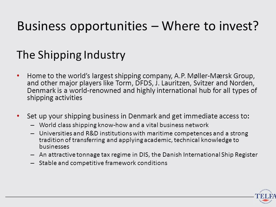 Business opportunities – Where to invest.