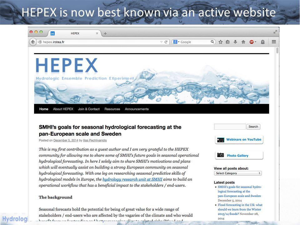HEPEX is now best known via an active website