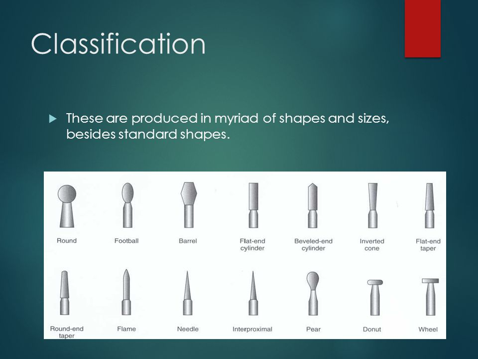 Classification  These are produced in myriad of shapes and sizes, besides standard shapes.