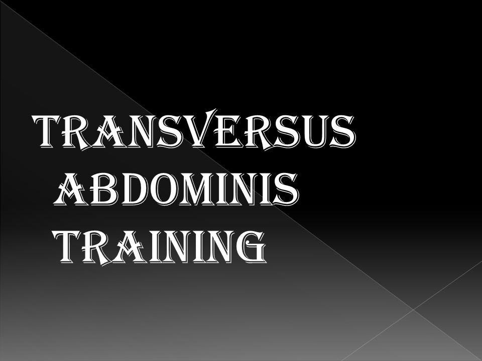 Transversus abdominis training