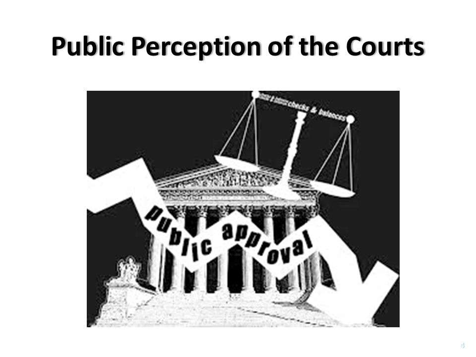 Public Perception of the CourtsPublic Perception of the Courts 4