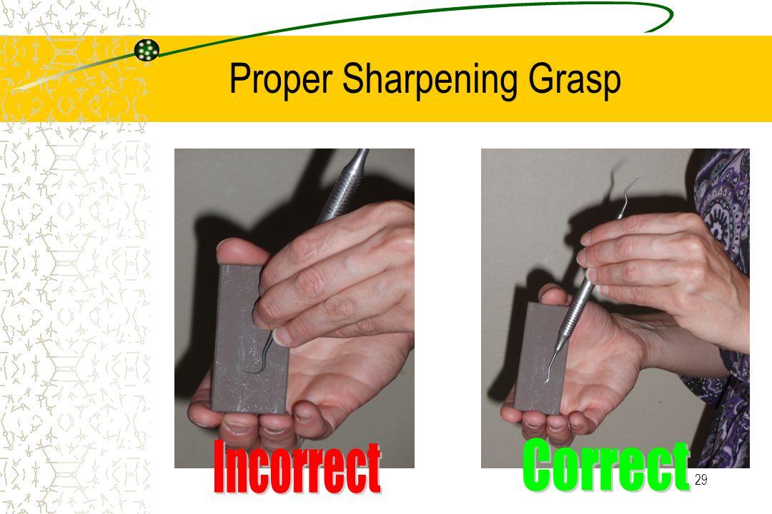 29 Proper Sharpening Grasp
