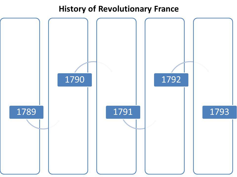 History of Revolutionary France 17891790179117921793