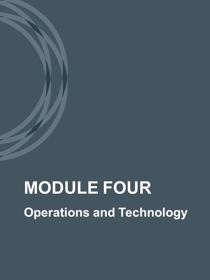 Operations and Technology MODULE FOUR