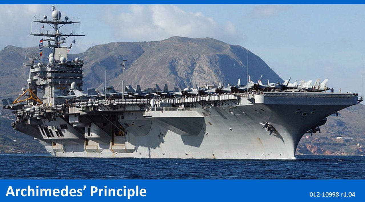 Archimedes' Principle 012-10998 r1.04