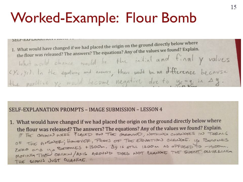 Worked-Example: Flour Bomb 15