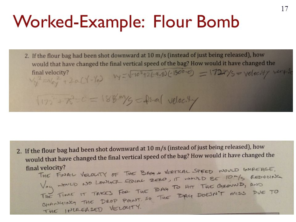 Worked-Example: Flour Bomb 17