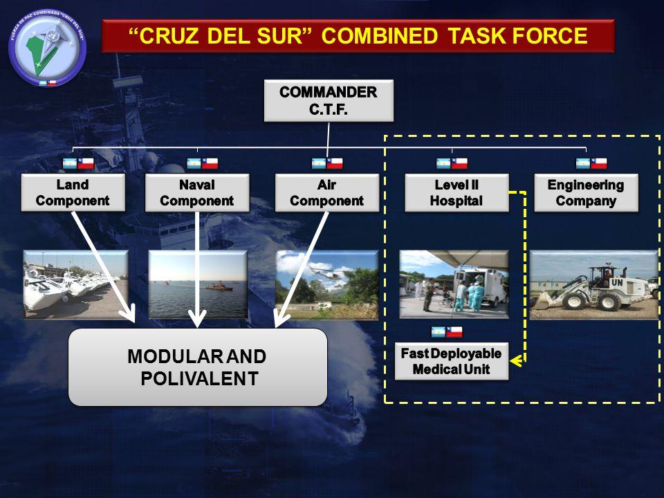 "MODULAR AND POLIVALENT MODULAR AND POLIVALENT ""CRUZ DEL SUR"" COMBINED TASK FORCE"