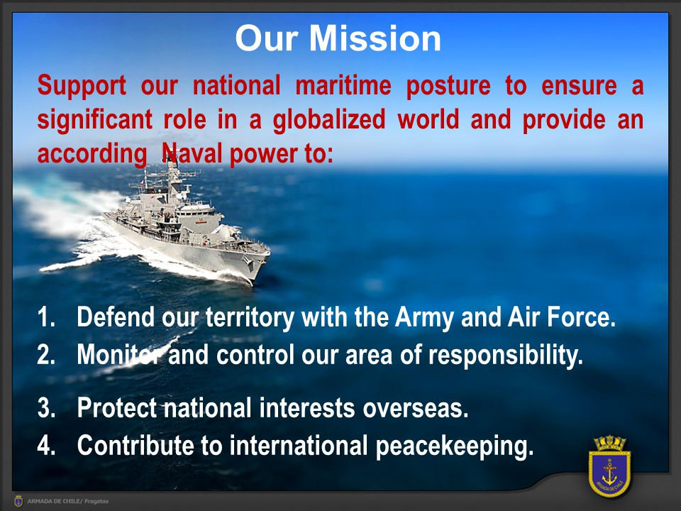 1.Introduction – Chilean Scenario 2. Our End – Deter and confront maritime security threats 3.