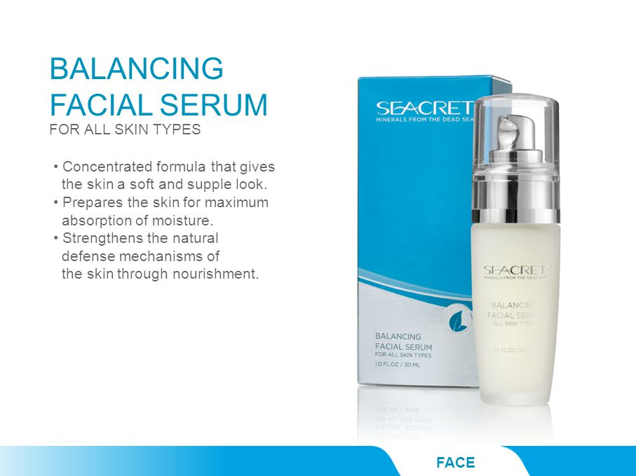 BALANCING FACIAL SERUM FACE FOR ALL SKIN TYPES Concentrated formula that gives the skin a soft and supple look. Prepares the skin for maximum absorpti