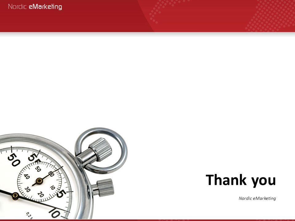 Thank you Nordic eMarketing