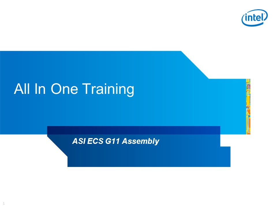 1 All In One Training ASI ECS G11 Assembly
