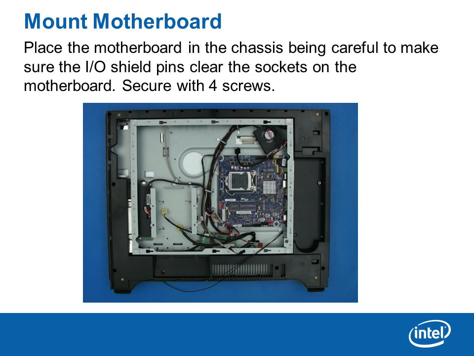 Open the CPU Socket Press down on the CPU socket locking lever and swing the socket frame open.