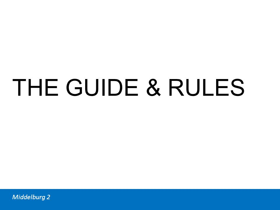Middelburg 2 THE GUIDE & RULES