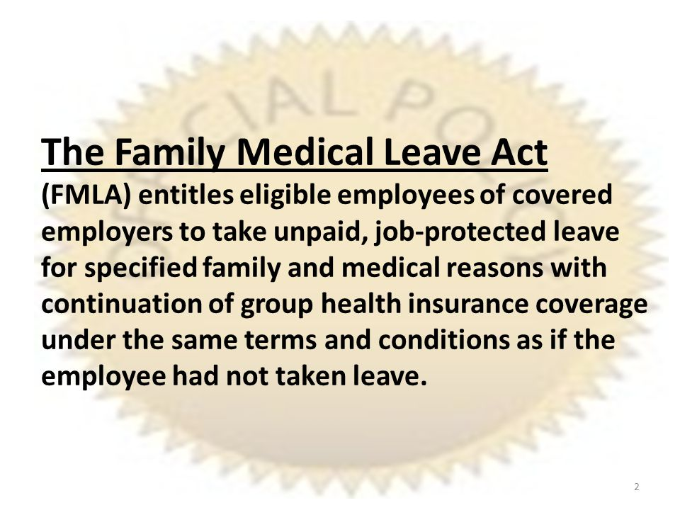 Promoting Policy Support The author's intention is not to fix FMLA but rather to help employers work within a broken FMLA; thus, the author does not support the FMLA policy.