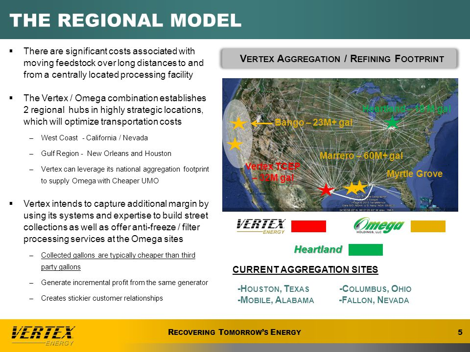 R ECOVERING T OMORROW ' S E NERGY  State of the Art Refinery Capacity ~18 million Gallons / Yr  Producing Premium API Group II Base Oil  Premium Low volatility Stocks Specifically designed to formulating modern Diesel and Passenger Car Motor Oils  Fully Tested and Approved by API and Major OEM's PREMIUM API GROUP II BASE OIL Vertex, Nevada Refinery  State of the Art Refinery Capacity ~23 million Gallons / Yr  Producing Premium API Group II Base Oils  Premium Low volatility Stocks Specifically designed to formulating modern Diesel and Passenger Car Motor Oils  Fully Tested and Approved by API and Major OEM's Vertex, Ohio Refinery 16 R ECOVERING T OMORROW ' S E NERGY