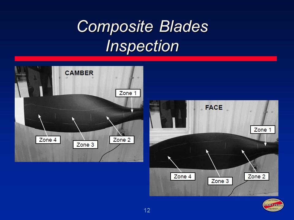 12 Composite Blades Inspection
