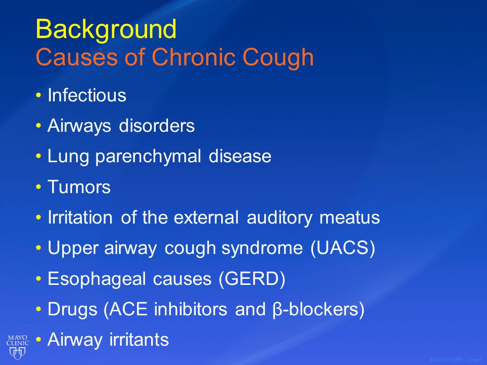 ©2014 MFMER | slide-36 Evaluation of Chronic Cough 24 Hour Laryngopharyngeal pH monitoring Off PPI or H2blocker for 10 days prior to study System uses small catheter introduced via the naris and placed just behind/beside the uvula for the study Data collected via a transmitter that transfers to a recorder