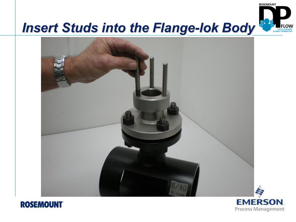 Insert Studs into the Flange-lok Body