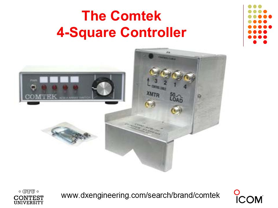 The Comtek 4-Square Controller www.dxengineering.com/search/brand/comtek