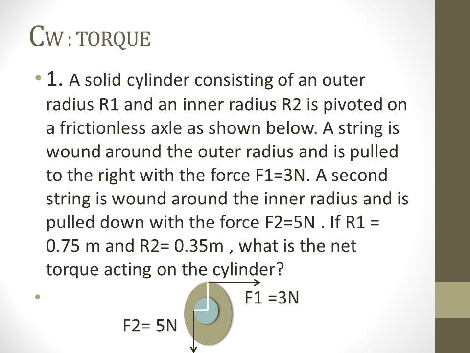 C W : TORQUE 1.