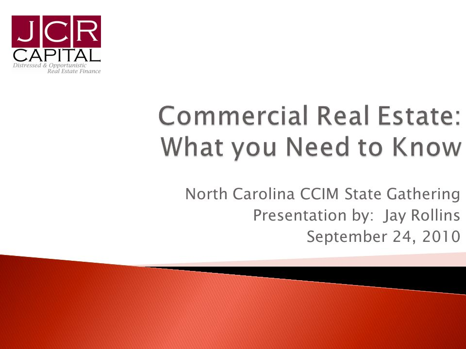 2 1.Commercial Real Estate Market Outlook 2. Distressed Assets: What you Need to Know 3.