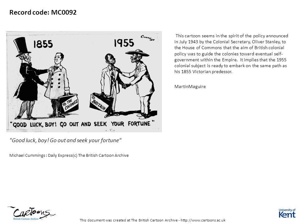 This document was created at The British Cartoon Archive - http://www.cartoons.ac.uk Record code: MC0092