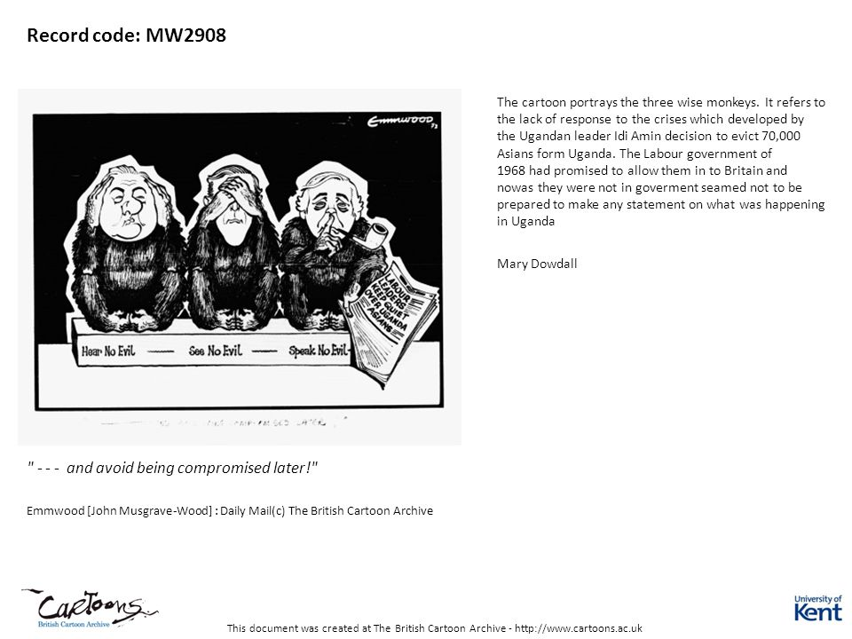 This document was created at The British Cartoon Archive - http://www.cartoons.ac.uk Record code: MW2908