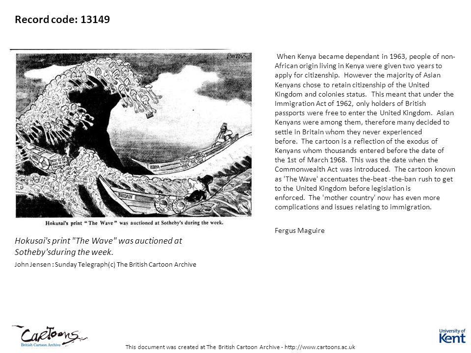 This document was created at The British Cartoon Archive - http://www.cartoons.ac.uk Record code: 13149 Hokusai's print
