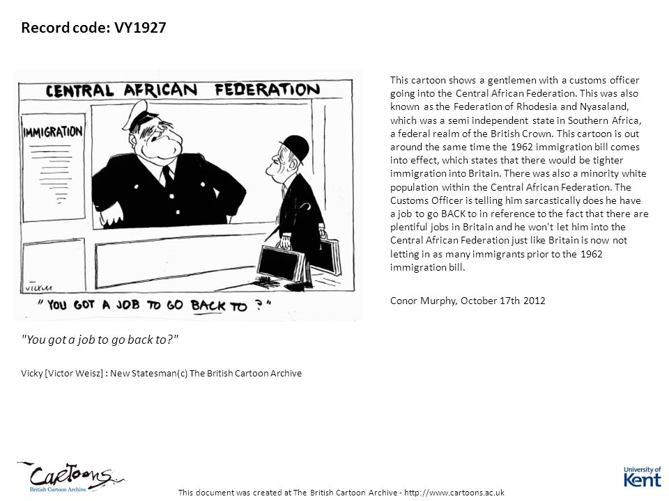 This document was created at The British Cartoon Archive - http://www.cartoons.ac.uk Record code: VY1927
