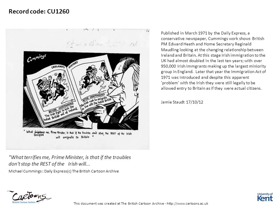 This document was created at The British Cartoon Archive - http://www.cartoons.ac.uk Record code: CU1260