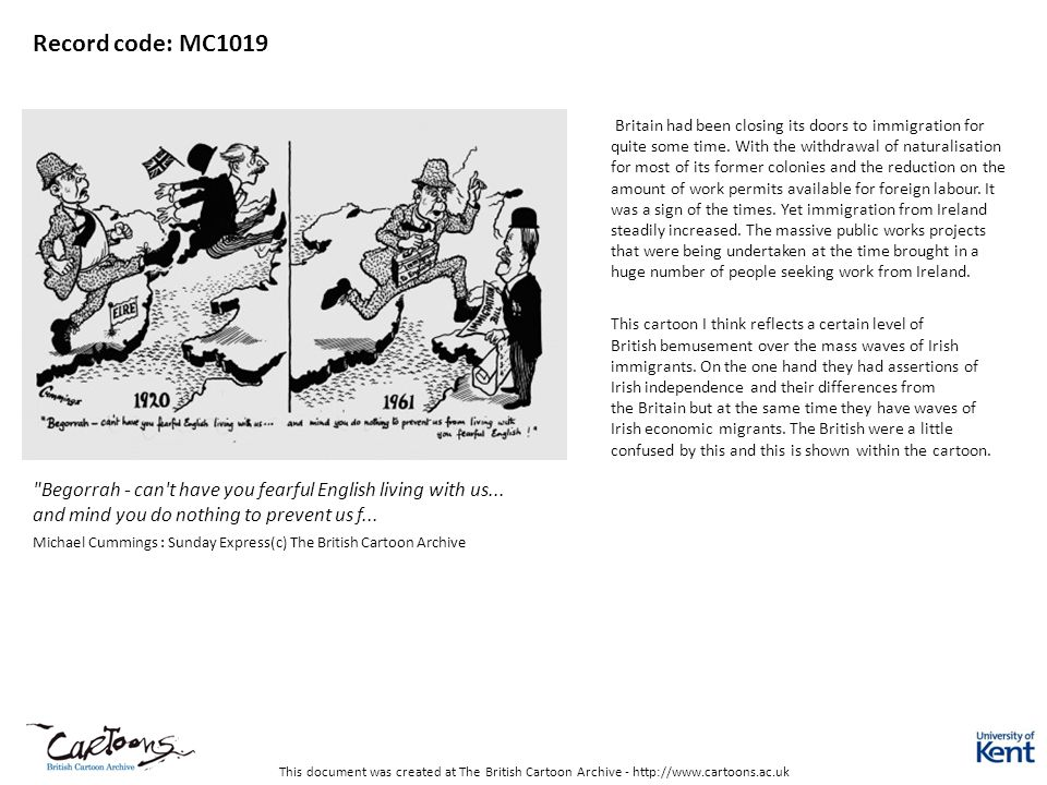 This document was created at The British Cartoon Archive - http://www.cartoons.ac.uk Record code: MC1019