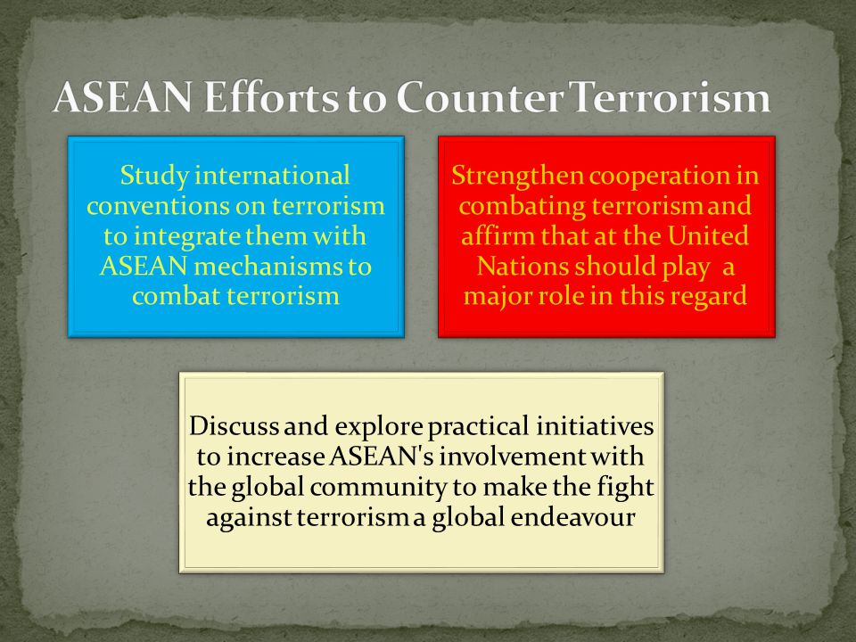 The Annual Conference of ASEAN Chiefs of Police (ASEANAPOL) was then held in May 2002, and called for a joint cooperation in fighting terrorism ASEAN focal point directory for ASEAN immigration authorities to exchange information was set up