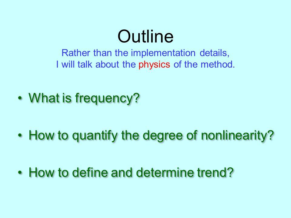Empirical Mode Decomposition: Methodology : Test Data