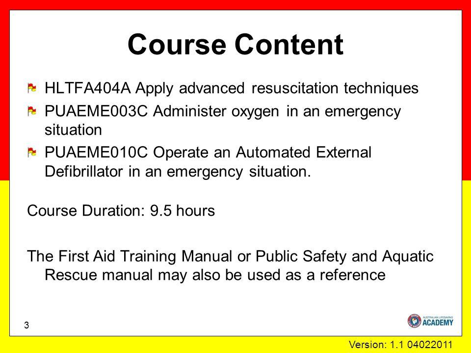 Version: 1.1 04022011 Oxygen equipment 34