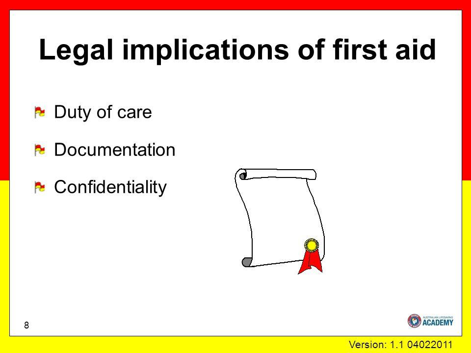 Version: 1.1 04022011 Primary assessment 19 Danger Response Send for help Airway Breathing Compression Defibrillation