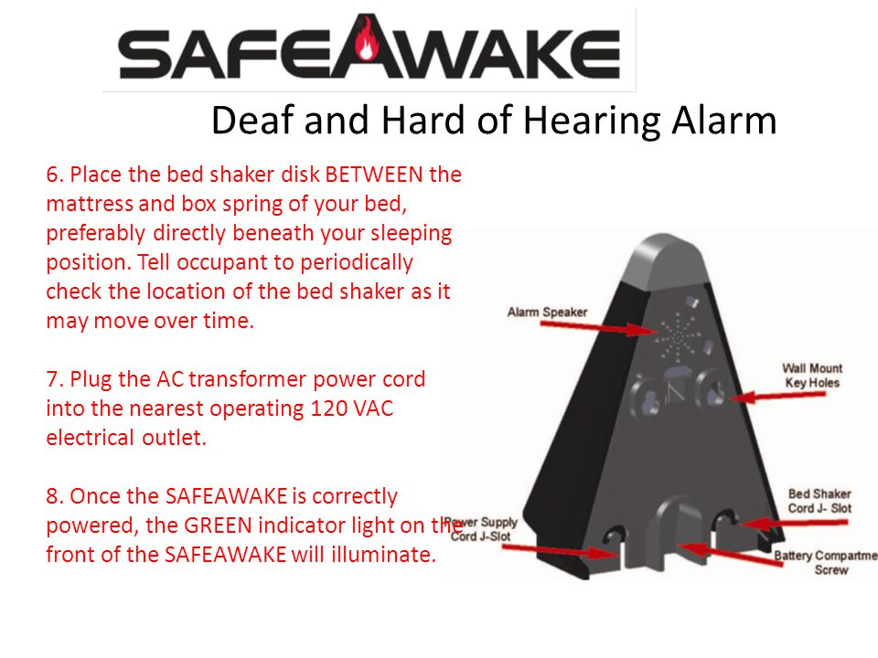 Deaf and Hard of Hearing Alarm 6.