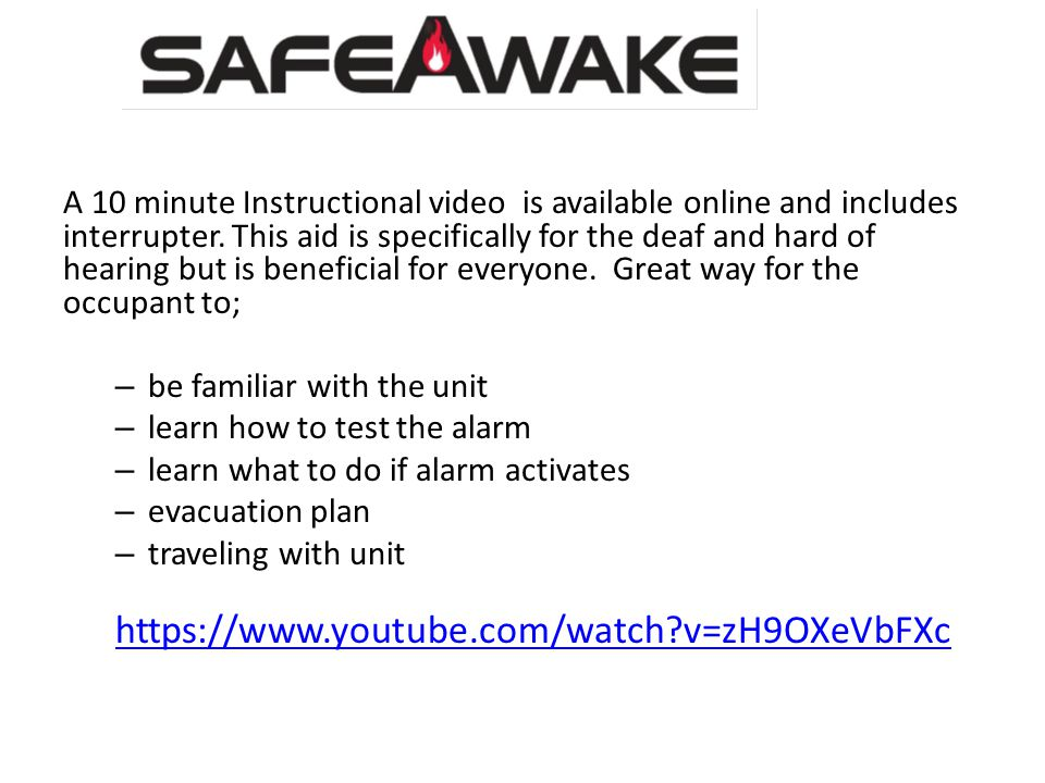 A 10 minute Instructional video is available online and includes interrupter.