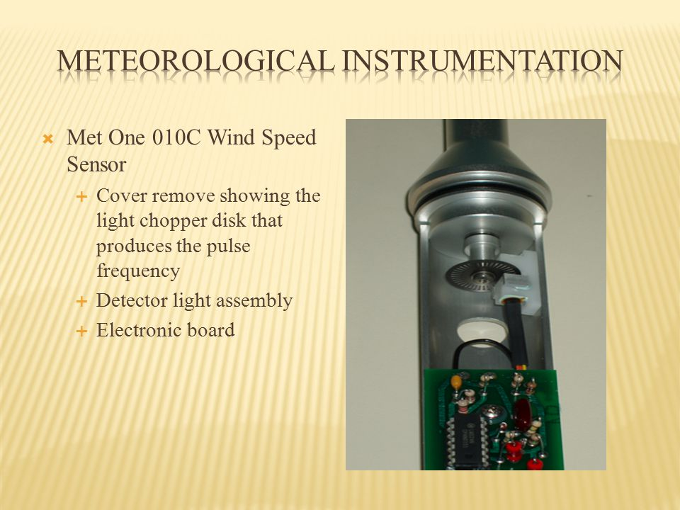 Sine wave Time + + - Hz (Hertz) is cycles per second Use sensor unit specs for range Wind Speed Sensor Frequencies Pulsed frequency