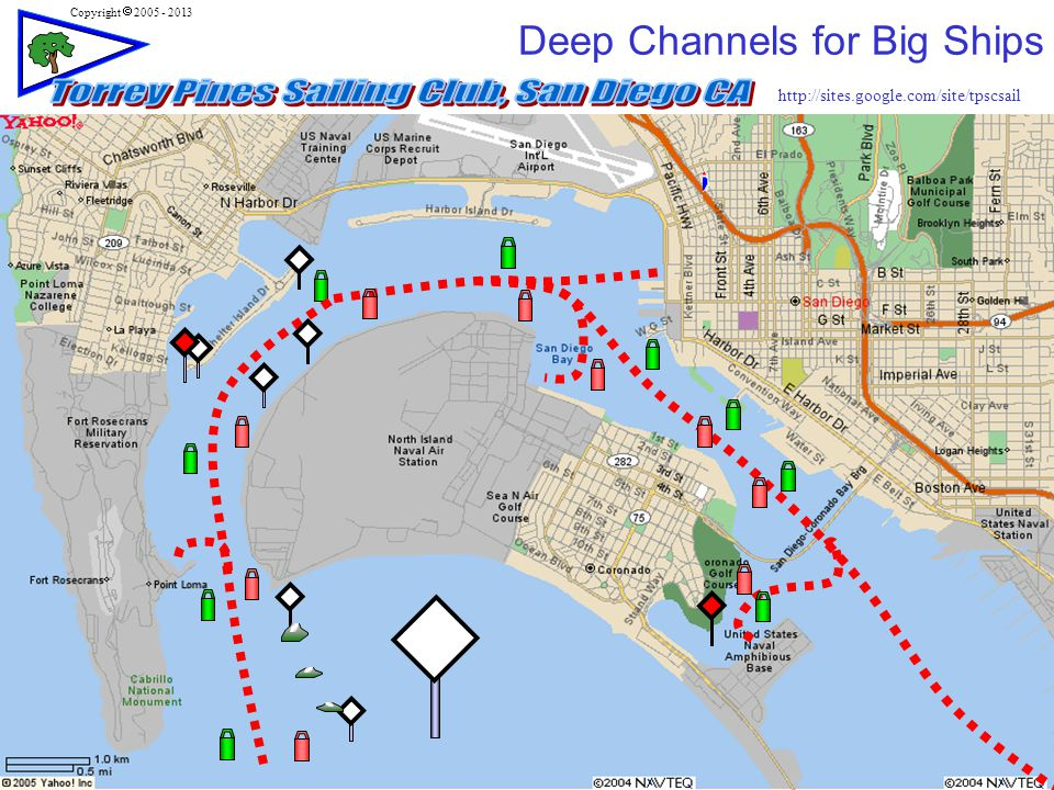 http://sites.google.com/site/tpscsail Copyright  2005 - 2013 4 Deep Channels for Big Ships