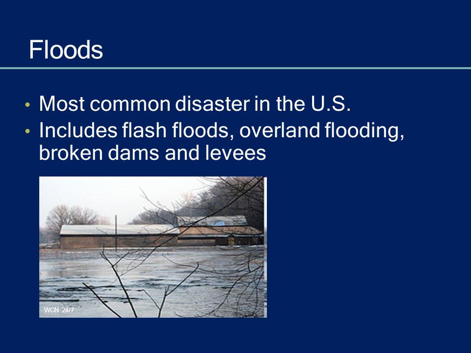 Flooding Terms Flood Watch – possible Flash Flood Watch Flood Warning – is occurring or will occur Flash Flood Warning FEMA/Michael Rieger
