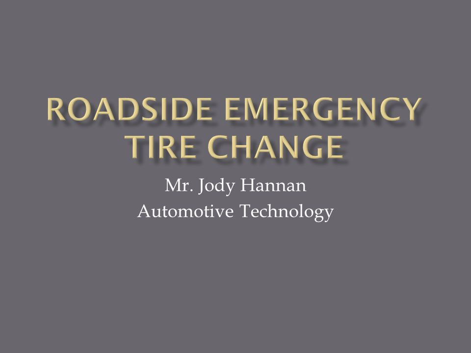 Mr. Jody Hannan Automotive Technology