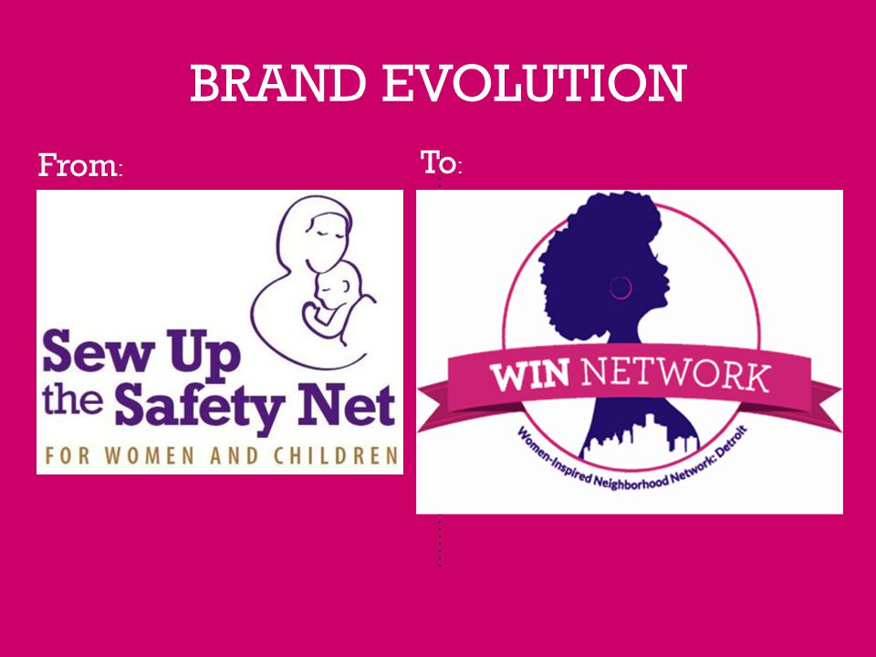 BRAND EVOLUTION From : To :