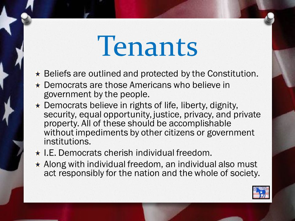 Tenants Societies must have laws that the majority of the people support and accept.