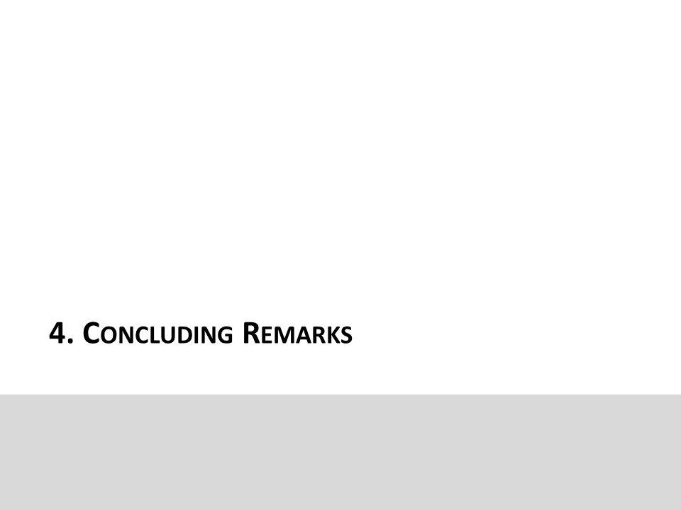 4. C ONCLUDING R EMARKS