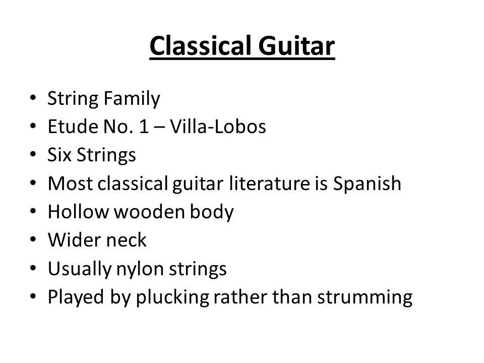 Classical Guitar String Family Etude No.