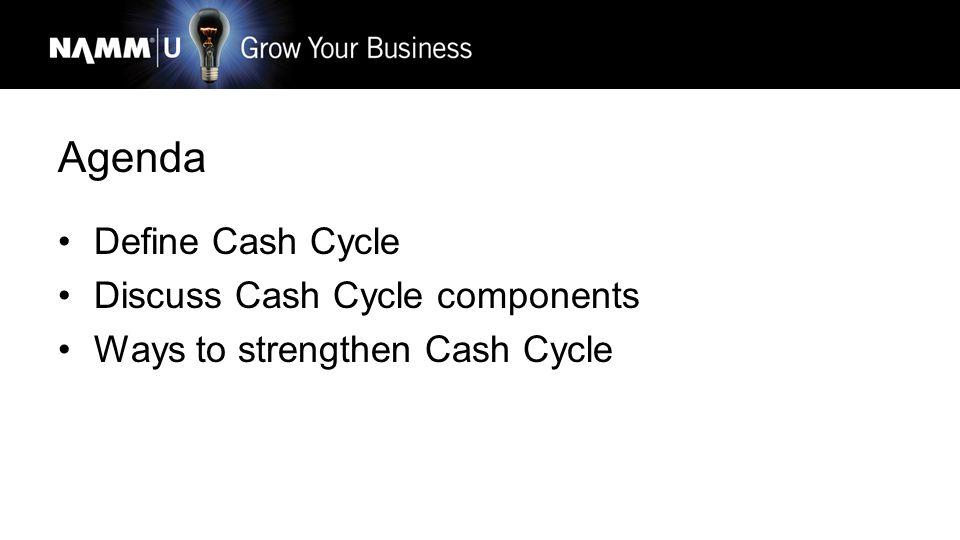 Create a Strong Cash Flow Cycle Lori Supinie Senseney Music