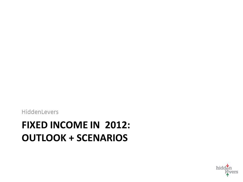 FIXED INCOME IN 2012: OUTLOOK + SCENARIOS HiddenLevers