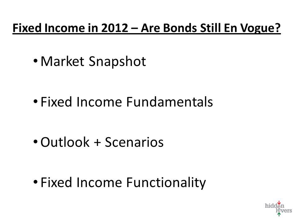 Fixed Income in 2012 – Are Bonds Still En Vogue.
